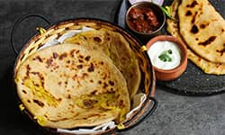 Cabbage and Dal Paratha