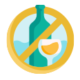 Avoid drinking alcohol or smoking icon