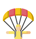 Sky diving, parasailing icon