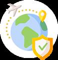 Travel health insurance icon